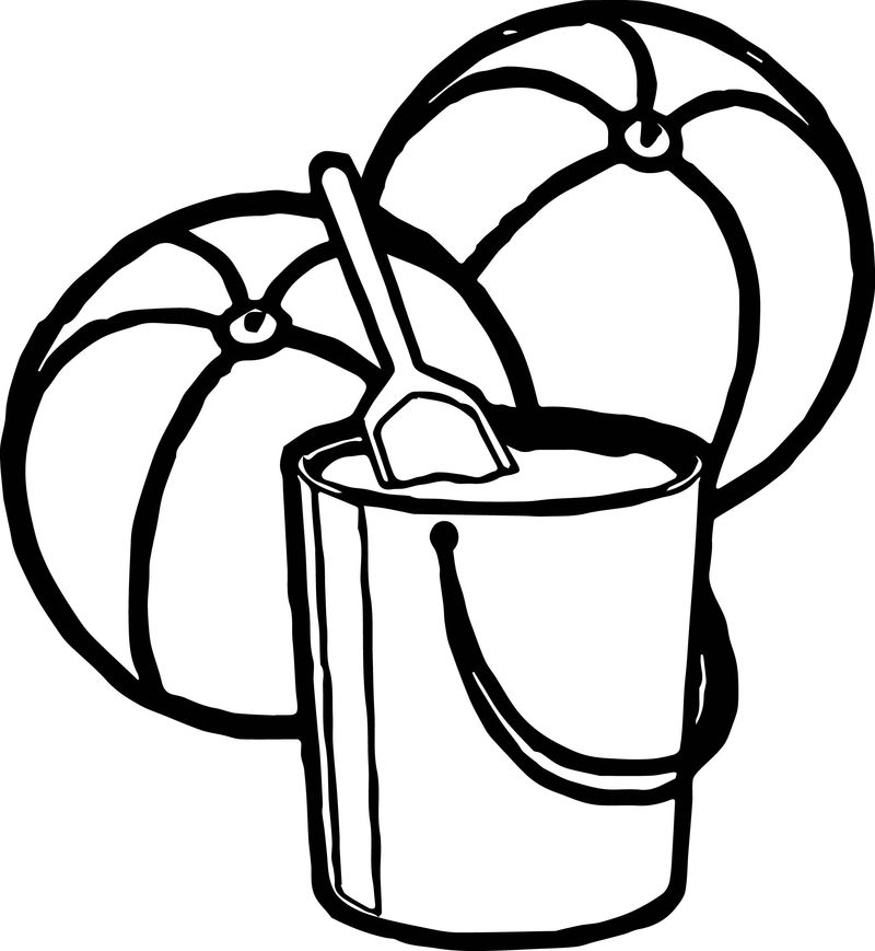 Two ball summer coloring page