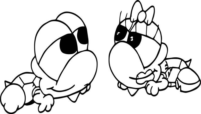 Two Tortoise Turtle Love Coloring Page
