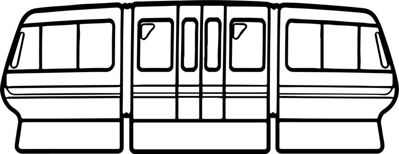 Two Way Train Coloring Page
