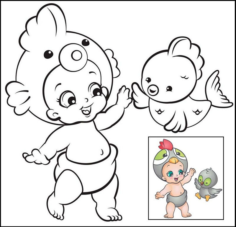 Twozies Bird Cala And Chatz Coloring Page