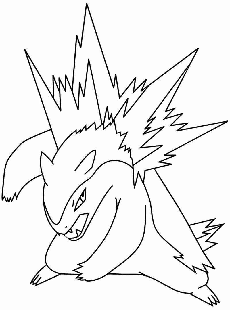 Typhlotion Pokemon Coloring Pages