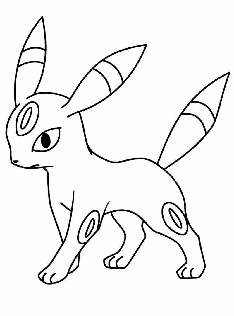 Umbreon Pokemon Coloring Pages To Print
