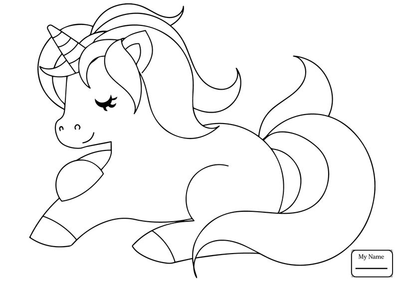 Unicorn Coloring Page For Preschoolers