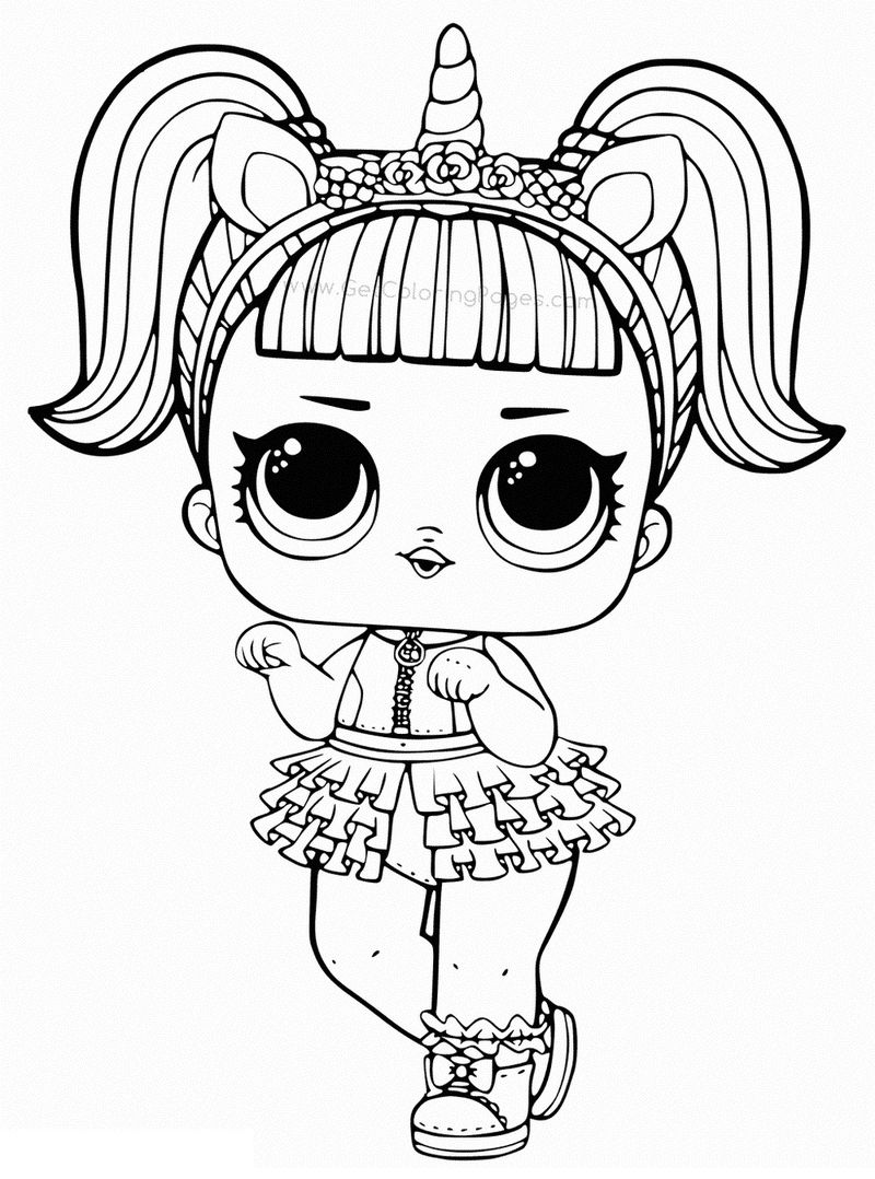 Unicorn Lol Dolls Coloring Pages