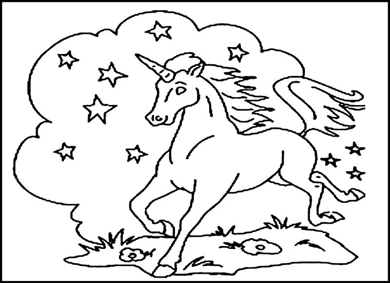 Unicorn Printable Coloring Pages