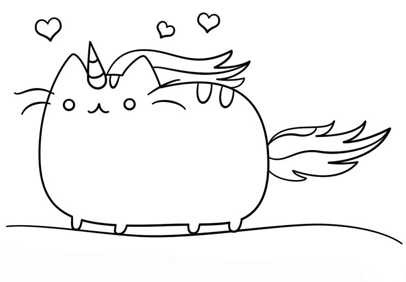 Unicorn Pusheen Coloring Page Free Free Coloring Pages