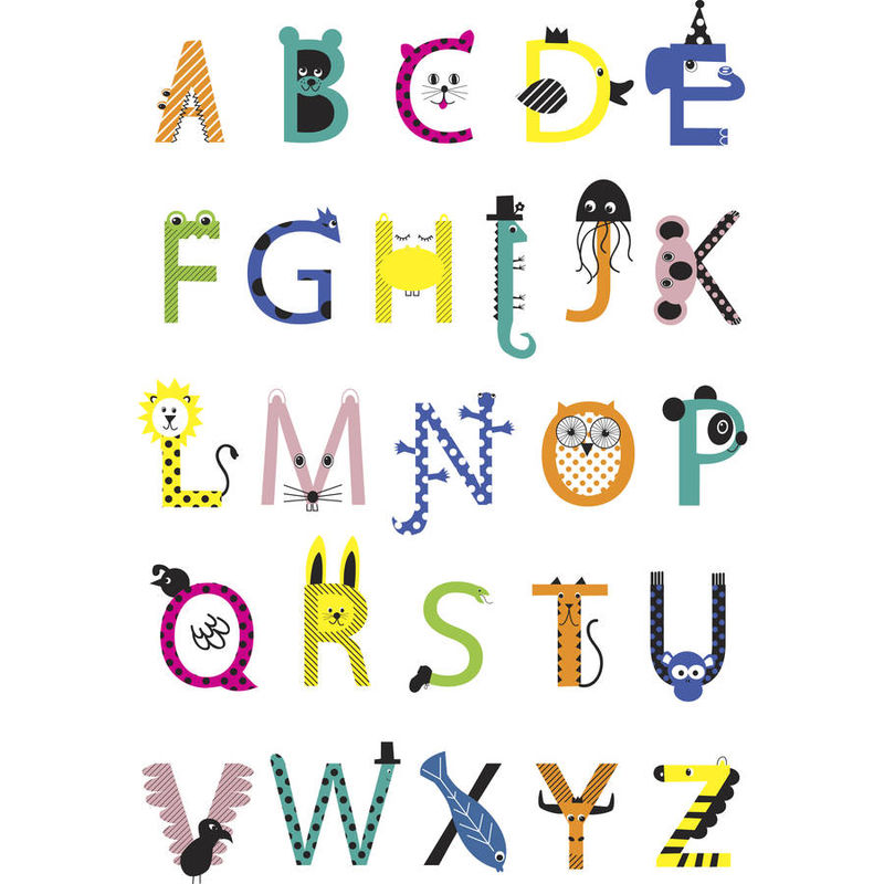 Uppercase Alphabet Letters Template