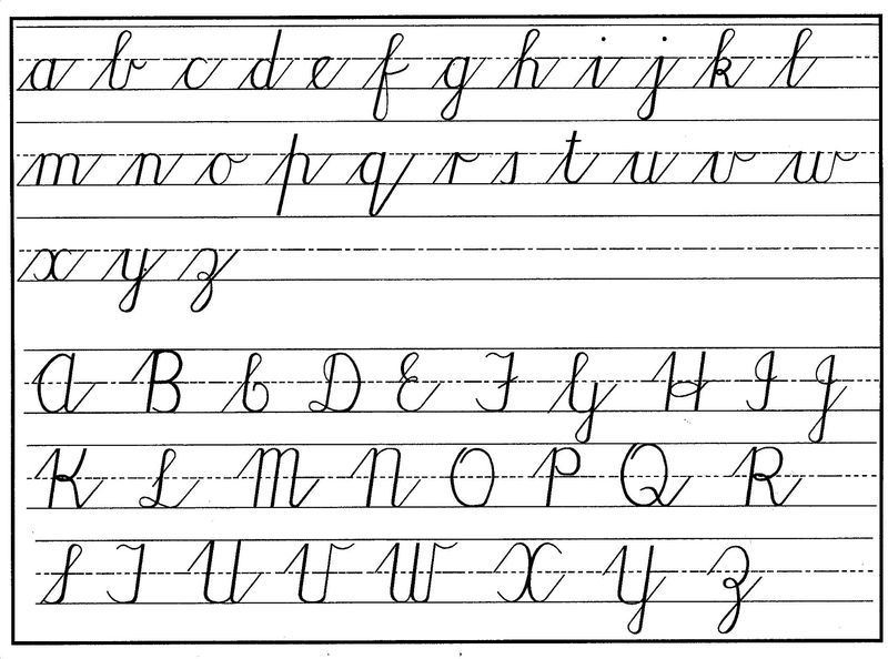 Uppercase And Lowercase Letters Cursive 1 001