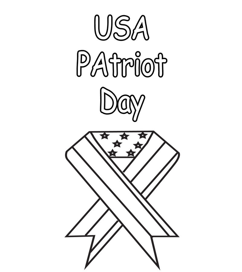 Usa Patriot Day 9 11 Coloring