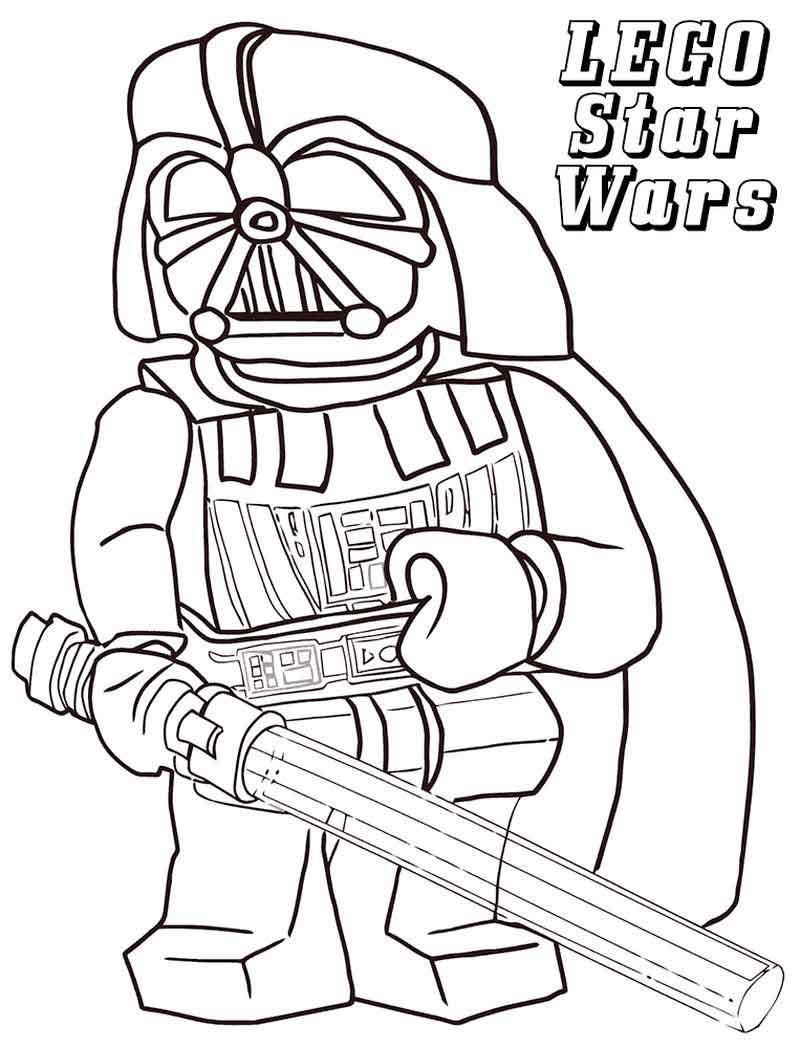 Vader Lego Star Wars Coloring Pages