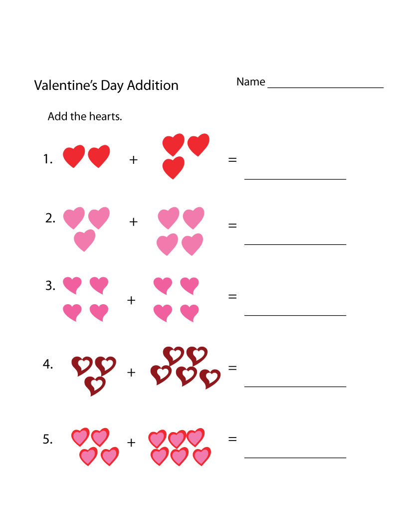 Valentine Addition Activity