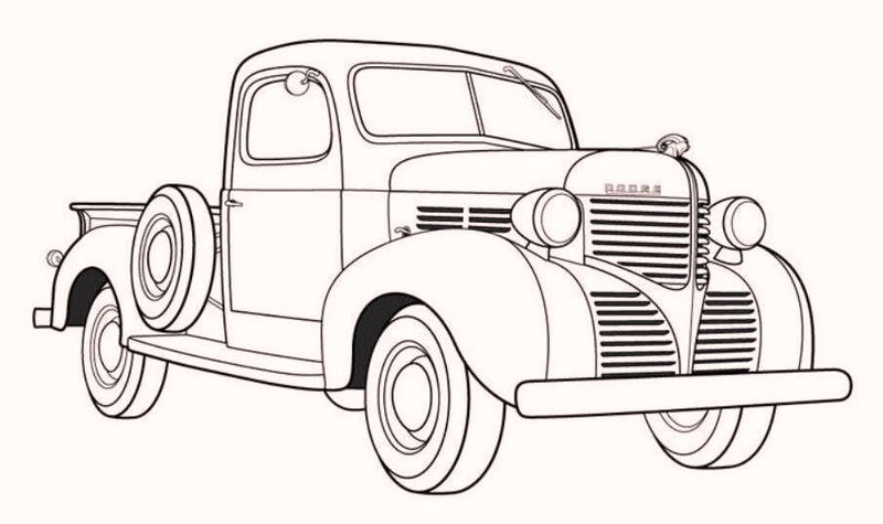 Vintage Antique Coloring Pages