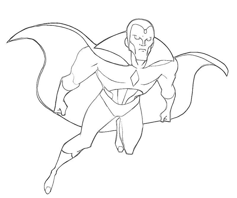 Vision Avengers Coloring Pages