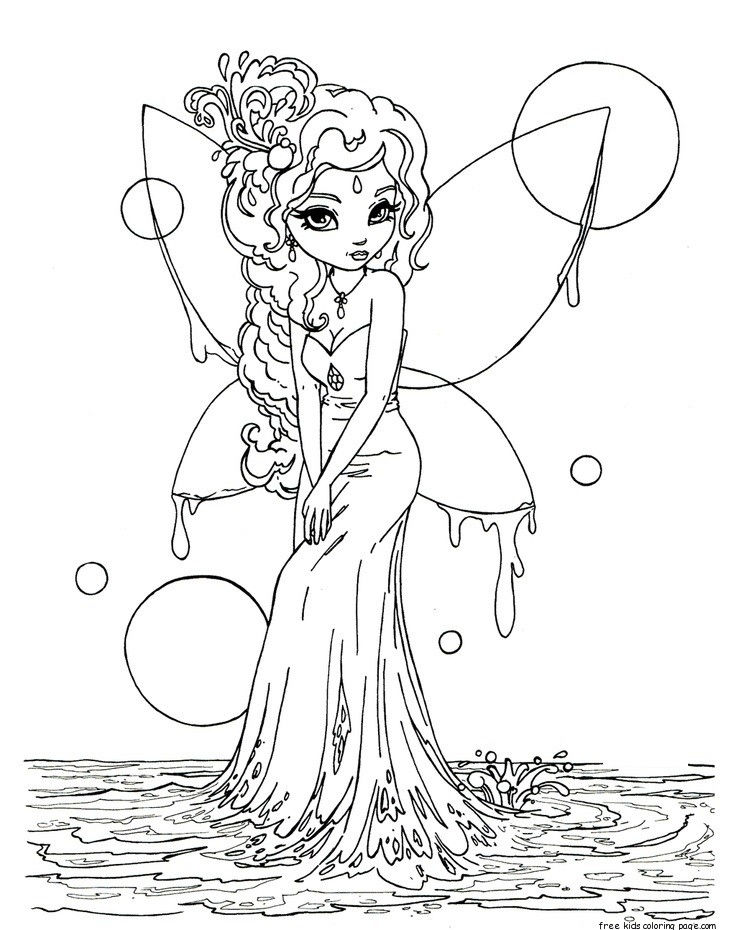 Water Fairy Coloring Page