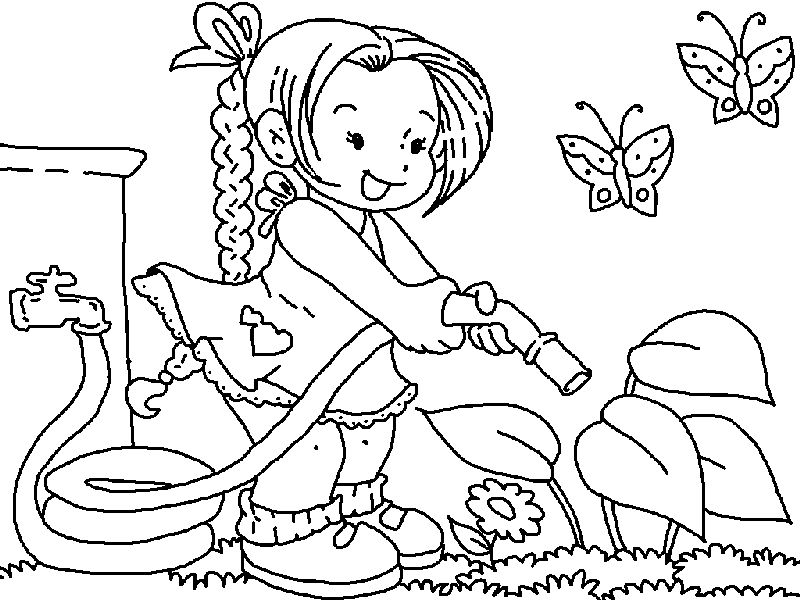 Water Garden Coloring Pages 001