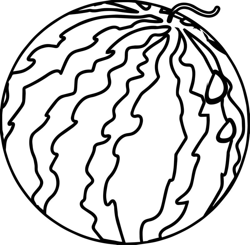Watermelon Summer Coloring Page
