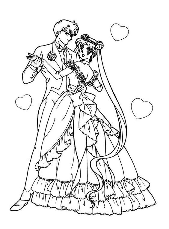 Wedding anime coloring pages 001