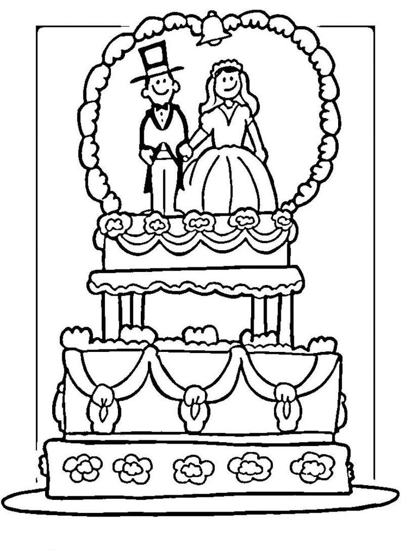 Wedding Cake Coloring Pages 001