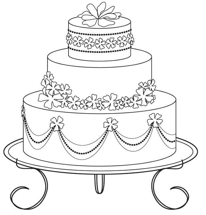 Wedding Cake Coloring Pages 03