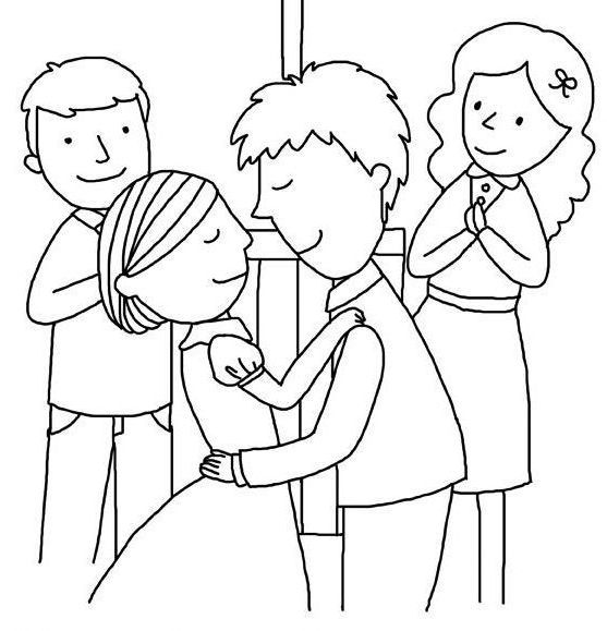 Wedding Ceremony Coloring Pages