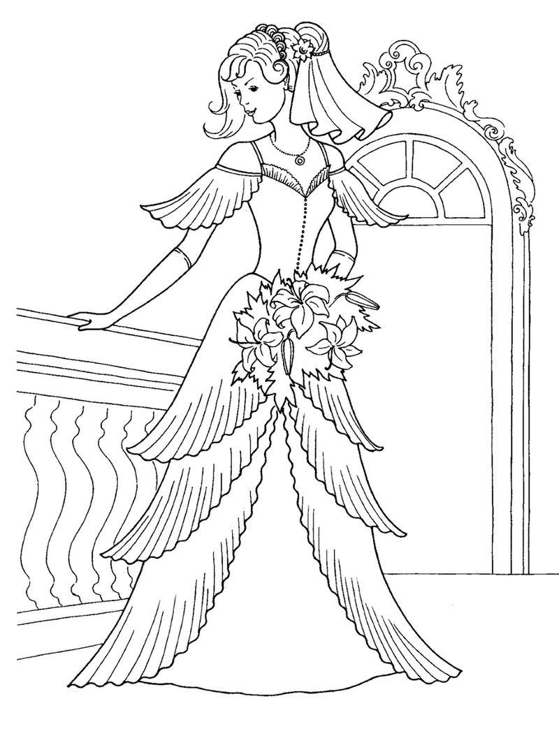 Wedding Dress Coloring Page