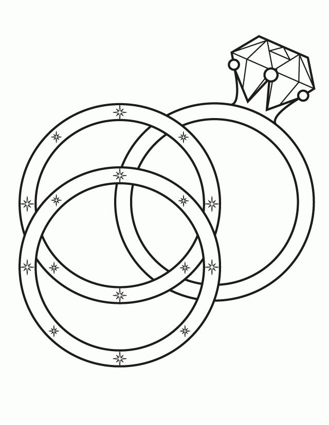 Wedding Ring Coloring Pages 001