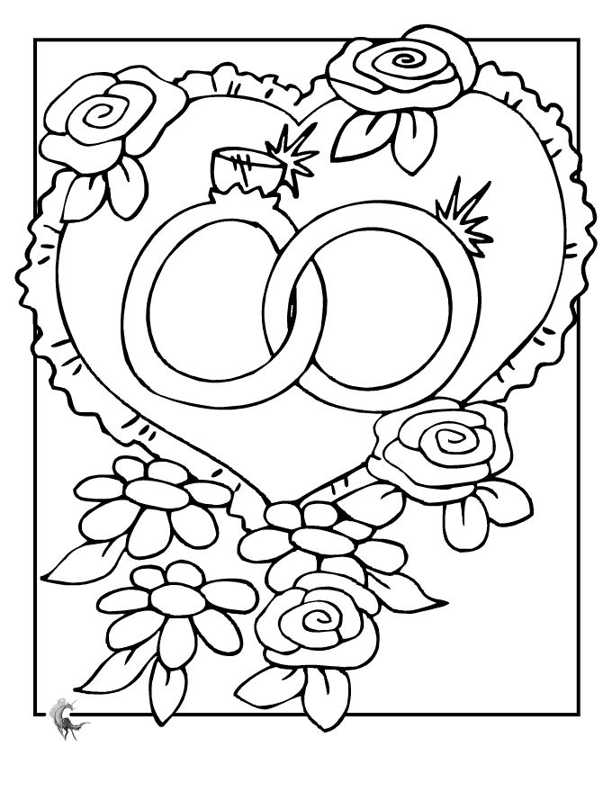 Wedding Rings Coloring Pages