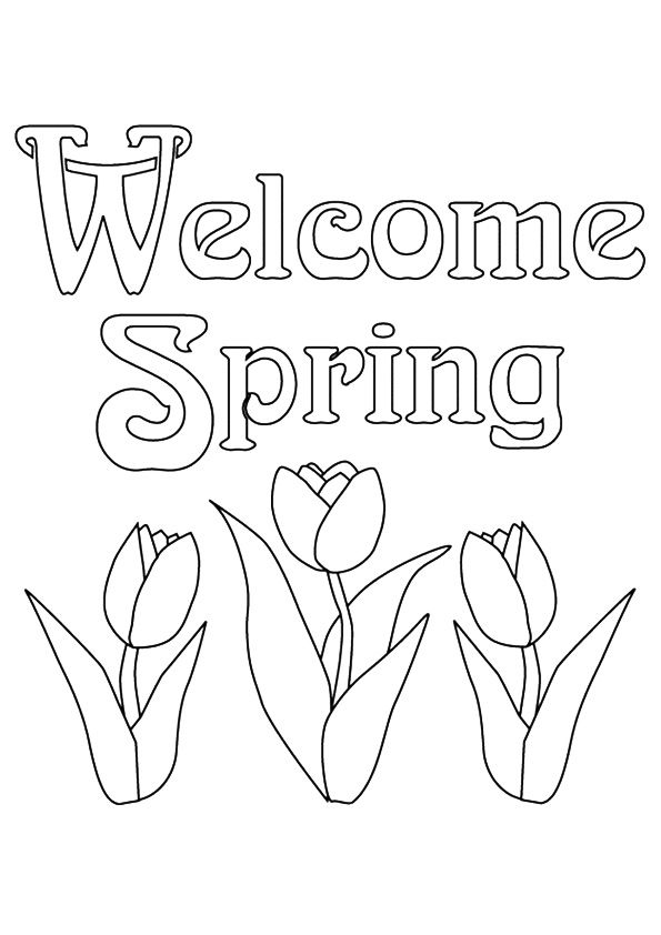 Welcome Spring Coloring Page 001