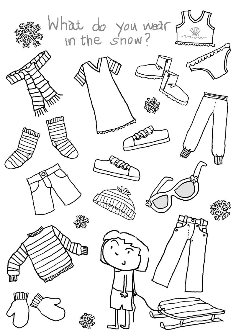 What Do You Wear In January Worksheet