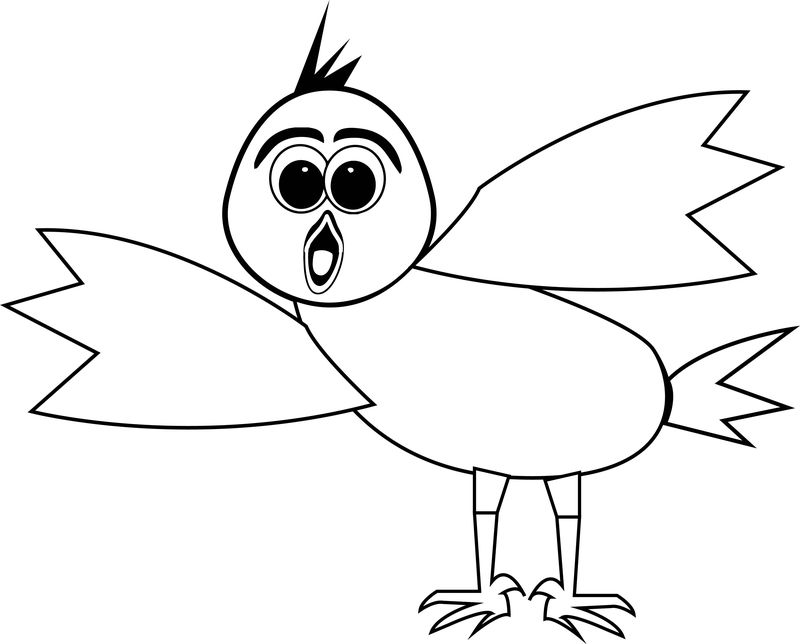 What This Bird Coloring Page 1