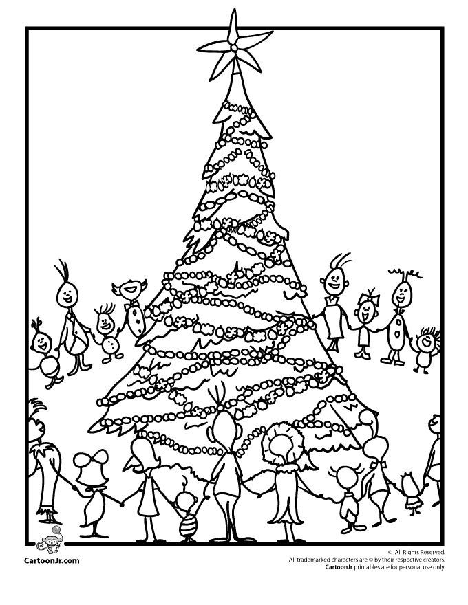 Whoville Tree Grinch Coloring Pages