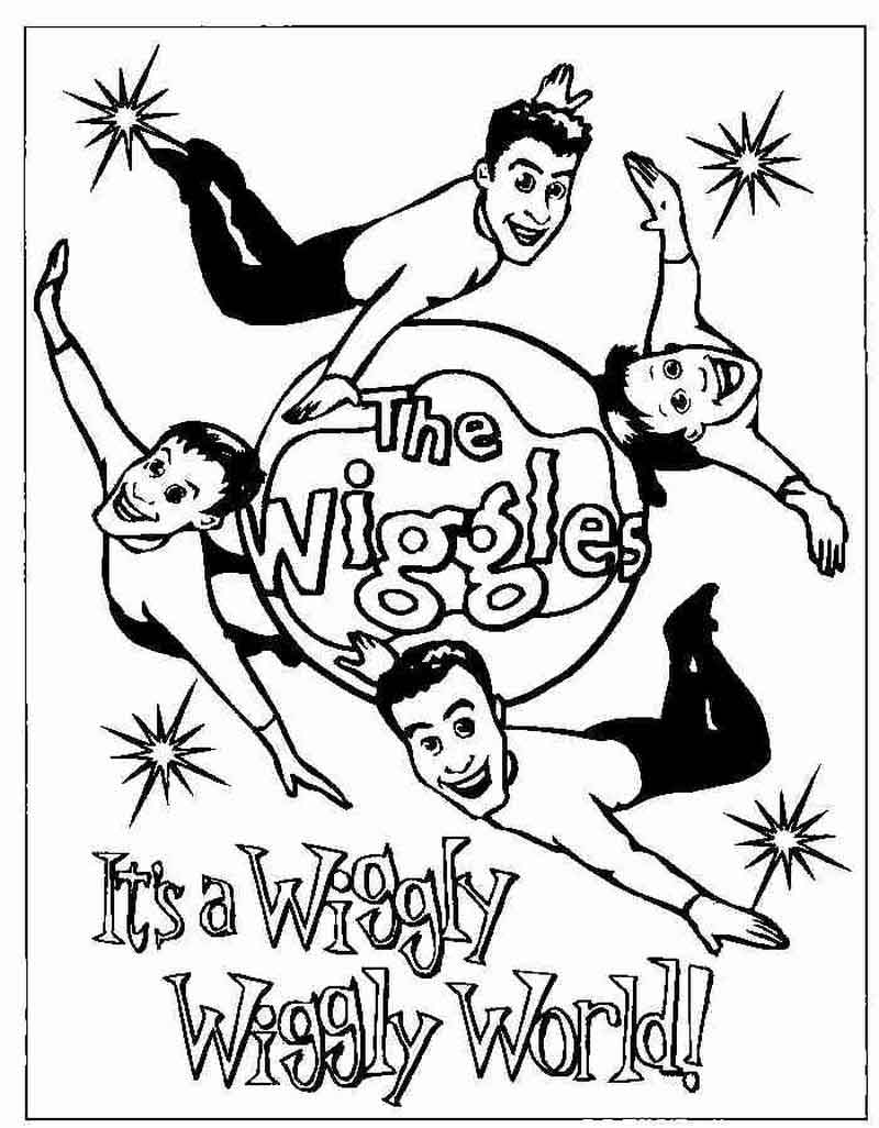 Wiggles Coloring Pages For Kids