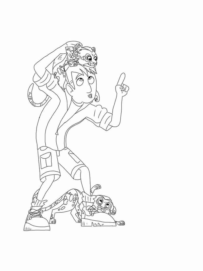 Wild Kratts Coloring