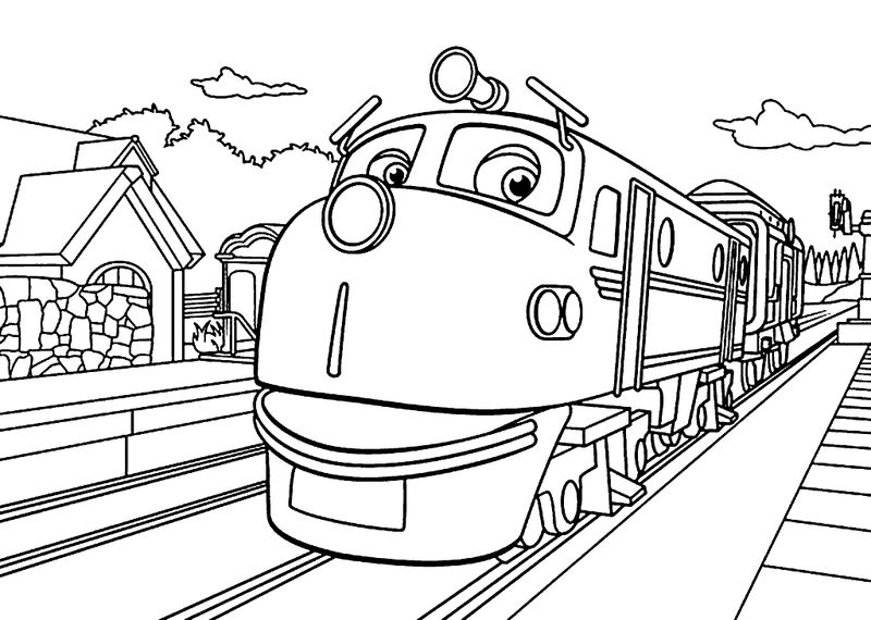 Wilson Advanced Trainee Coloring Sheet Chuggington Coloring Page