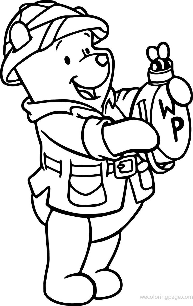 Winnie The Pooh Animal Kingdom Coloring Page | FREE COLORING ...