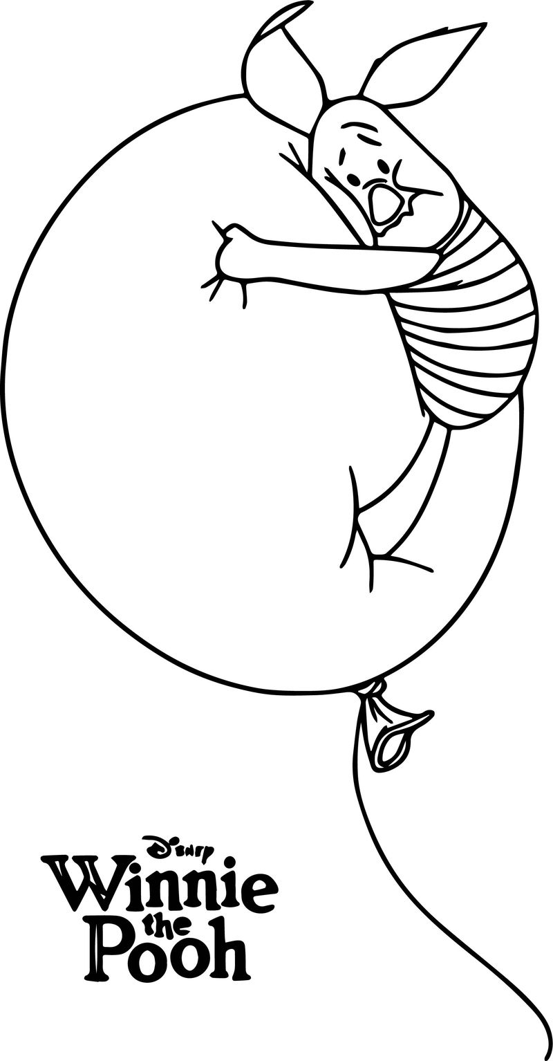 Winnie The Pooh Poster Piglet Coloring Page