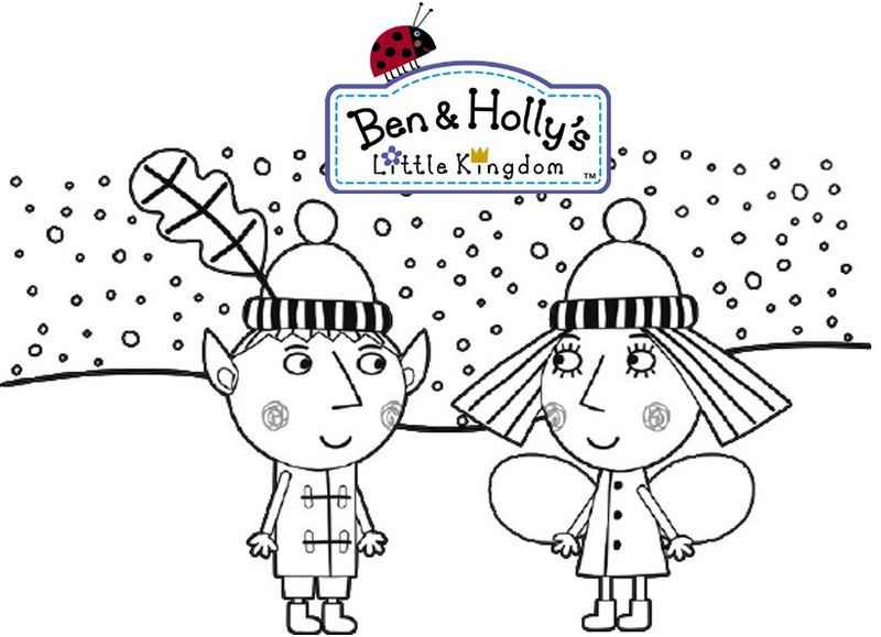 Winter Ben And Hollys Little Kingdom Coloring Page