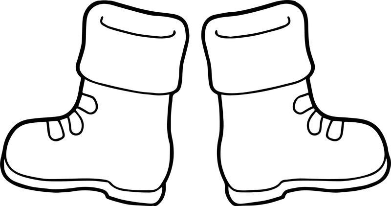Winter Boots Coloring Page