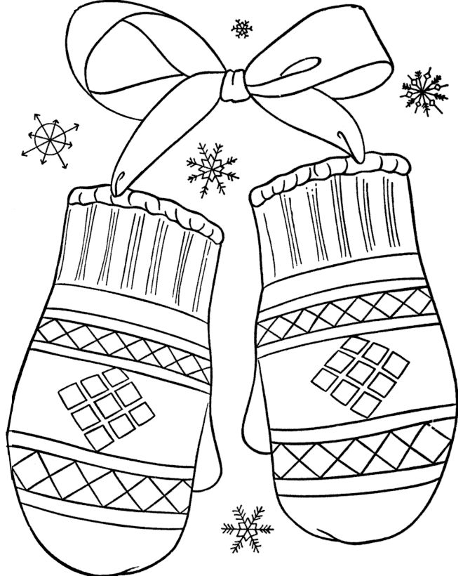 Winter Mitten Coloring Page