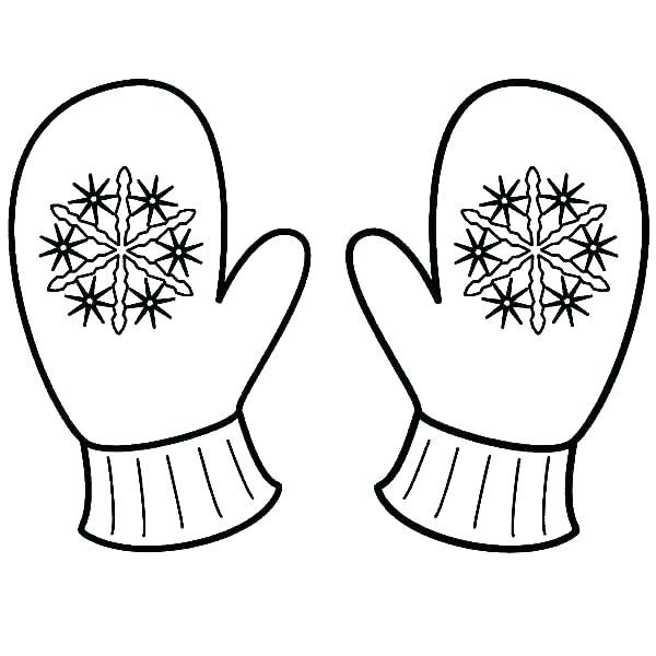 Winter Mittens Snowflake Coloring Pages