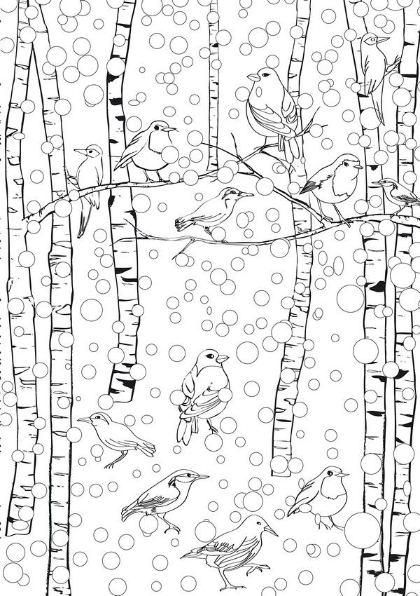 Winter Scene January Coloring Pages