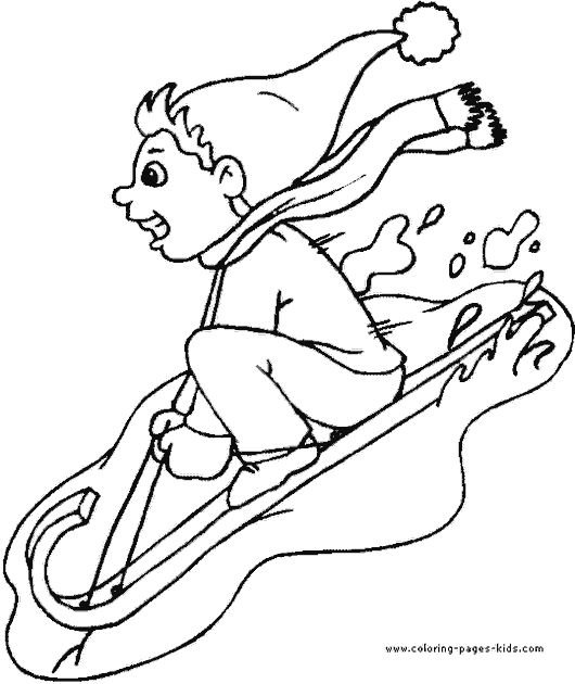 Winter Snowboarding Coloring Page New Update