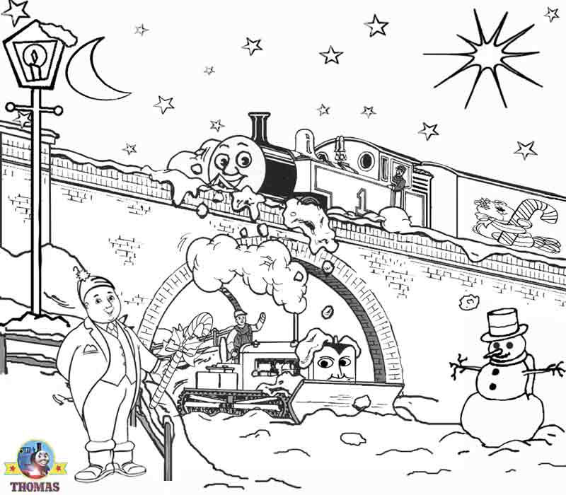 Winter Thomas Coloring Pages