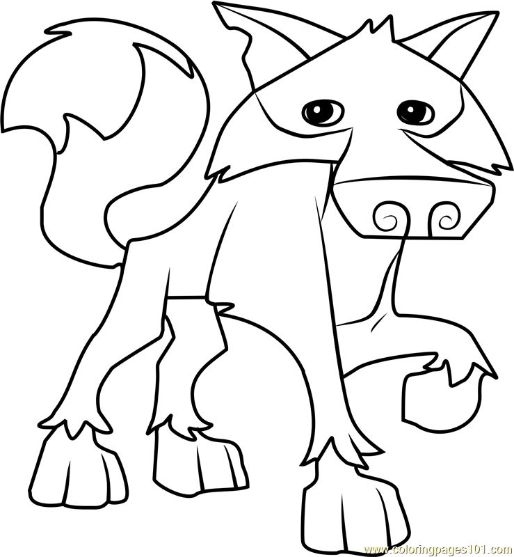 Wolf Animal Jam Coloring Pages