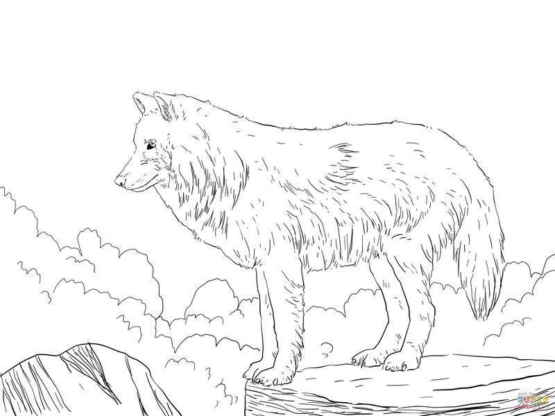 Wolf Coloring Pages 1