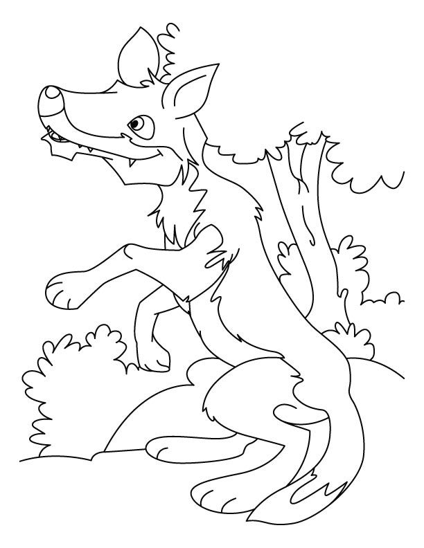 Wolf Pup Coloring Pages
