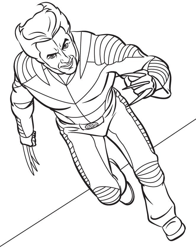 Wolverine Marvel Coloring Pages 001