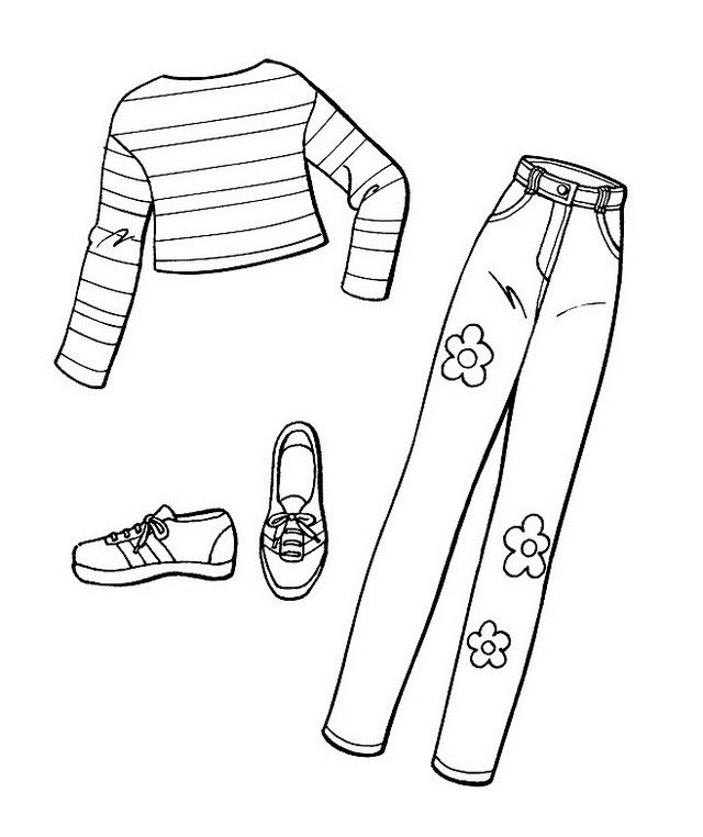 Women Pants Coloring Sheets