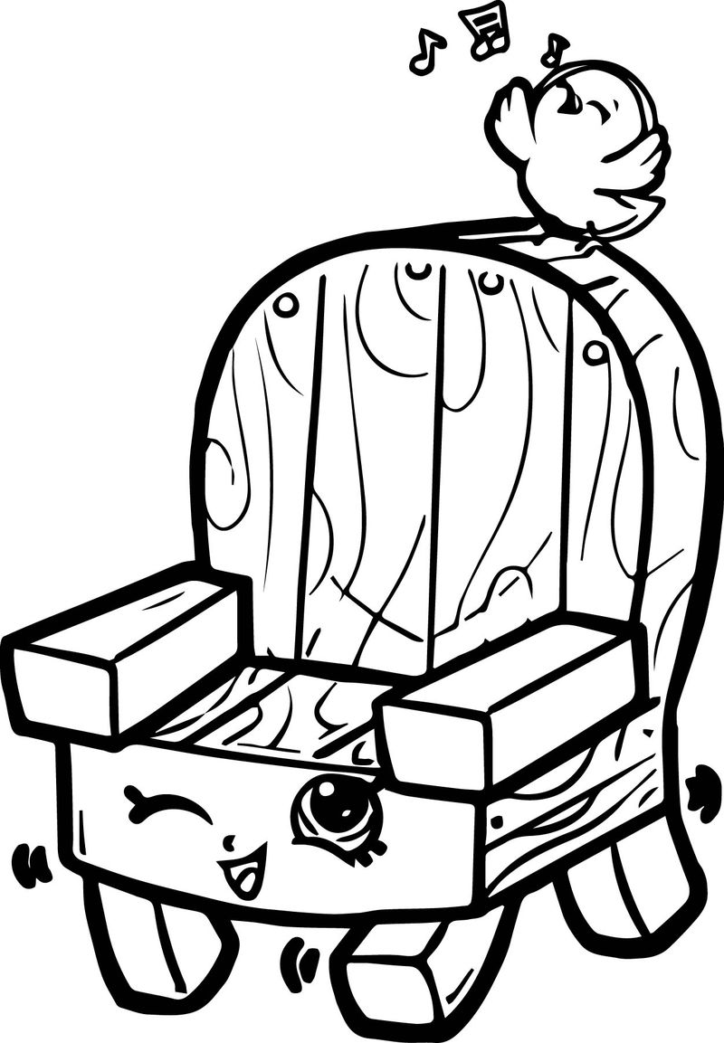 Woody Garden Chair Coloring Page