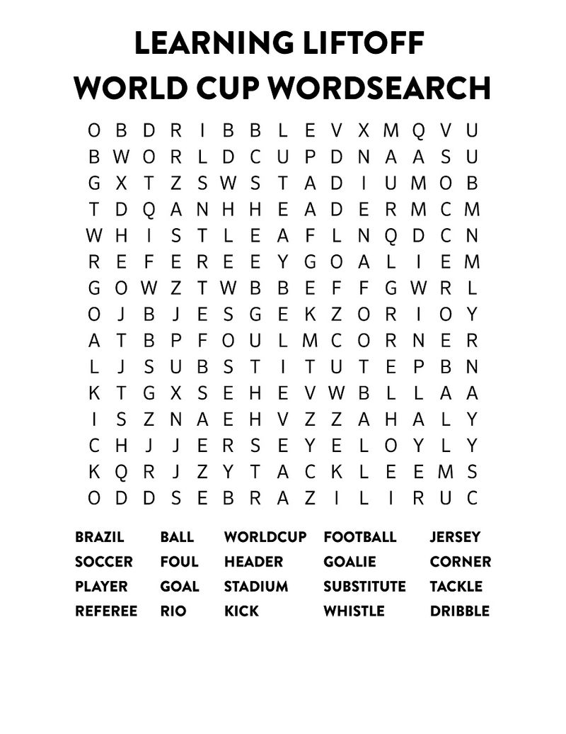 Word Search Football Word Cup 002